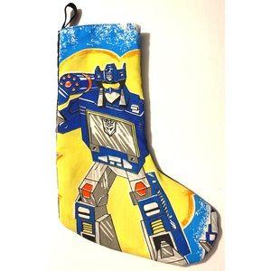 retro 80s Transformers Fabric Christmas Stocking